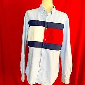 TOMMY HILFIGER Light Blue Button down Shirt